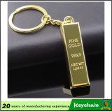 Regalo de negocios de oro fino 999.9 Llavero de barra de oro con Logo