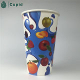 베스트셀러 최상 주문 로고에 의하여 인쇄되는 PE 입히는 처분할 수 있는 종이컵