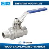 Dn40 2PC F/M a vissé le robinet à tournant sphérique intérieur et extérieur de l'acier inoxydable CF8m 316 de Hreaded