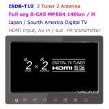 2 тюнер 2 Антенна 10.1-дюймовый Seg цифровой ТВ приемник монитор
