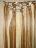 Encaixar as extensões de cabelo 4PCS/Set Clip cores misturadas no cabelo Extenisons (AV-CH002-02)