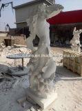 La vente de la main chaude de sculpture sur marbre naturel Poseidon Dieu de la mer Lady Statue (sy-MS132)