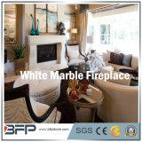 Camino curvo marmo bianco per la decorazione salone della villa/della Camera