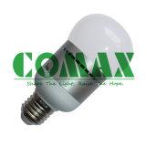 Diodo emissor de luz novo do projeto que ilumina a ampola cilíndrica