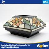 Novo Design leal ISO9001 produto patenteado Tiffany Tampa da Coluna de vidro Solar Luz de LED decorativas