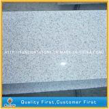 Natürliche umsäumende Steinperlen-weiße Granit-Küche, Wand, Fußboden-Fliesen