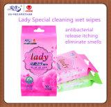 1 seule pièce emballés Lady utiliser spécial de nettoyage spécial lingette humide