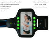 sicurezza di cappello del bracciale di sport di iPhone 6 6s LED alla notte