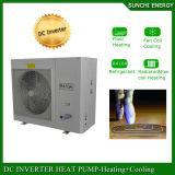 -ヒートポンプDCインバーターヒーターに水をまく25c冬の空気