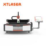 espesor del corte de la cortadora del laser de la fibra del metal de hoja del CNC 1000W hasta 6m m