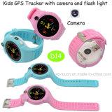 플래쉬 등 D14를 가진 보수계 Sos 아이 또는 아이 GPS 추적자 시계