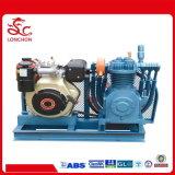 Compressor van de Lucht van het Schip van het Stadium van de diesel Luchtkoeling van het Type De Dubbele