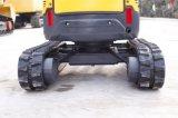 AL16-9D 1.7t (moteur Perkins) Mini pelle hydraulique avec queue zéro&Châssis escamotable