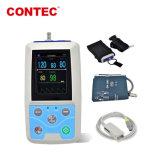 Geduldige Monitor van de Monitor TFT LCD van de Monitor NIBP/SpO2 van de Bloeddruk van de Zak van Contec Pm50 de Handbediende