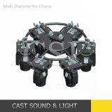 Rotación automática de la etapa de la armadura de círculo para mover la luz de la cabeza