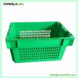 El transporte de alimentos grado apilable de plástico de HDPE de Verificación de frutas