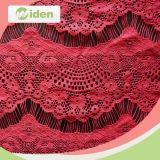 Il tessuto indiano modella il tessuto del merletto della rete del ricamo del poliestere 100