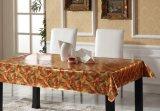 Tablecloth impresso PVC com grão gravada para o uso da HOME/partido