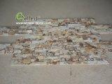 Toque macio e suave Amarelo Cultura Arenito pedra para a decoração de paredes/chapeamento