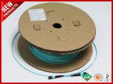 100Gbps 24F MTP de fibra óptica de apareamiento paralelo multimodo OM3 Cable B de la polaridad del tronco