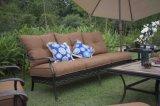 Sofá real da cadeira da sala de estar do alumínio de molde do pátio do quintal de Gardden da alta qualidade ajustado com guarda-chuva