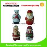 Botella al por mayor de la salsa de cerámica para adorno de navidad