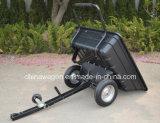 Reboque do jardim de ATV que despeja o carro com bandeja poli