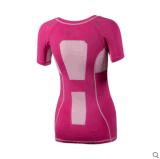 Polyester Dry Fit à manches courtes pour femmes