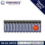 1,5 V de la Chine de la fabrication de la batterie à usage intensif pour la fumée Detetor (R6-AA 24pcs)