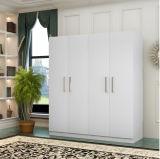 Schlafzimmer-Möbel kundenspezifische hölzerne 4 Tür-Garderobe