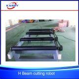 Plasma d'acciaio di CNC della struttura del fascio di funzionamento del fascio facile della H-Sezione e linea di produzione di smussatura facente fronte della marcatura di taglio alla fiamma
