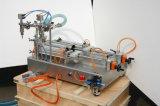 Semi-auto Horizontale Pneumatische Hoofd Vloeibare het Vullen 2 Machine