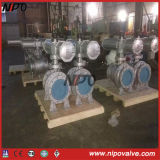 Pneumatic Actuator를 가진 던지기 Steel Flanged Trunnion Ball Valve