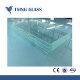 3-19mm claro vidrio templado con agujeros, bordes pulidos, Silk-Screen impresión, tamaños de corte