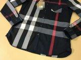 Overhemden van de Koker Yarndye van 100%Cotton van mensen de Plaid Geweven Lange