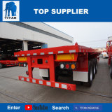 タイタンの手段- 40のFTの20トンのJostサポート足を搭載する平面トラックのトレーラー