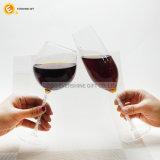 熱い販売の茎明確なガラスはワイングラスのコップを襲う