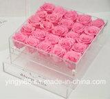 Contenitore acrilico di fiore del rifornimento della fabbrica con il cassetto