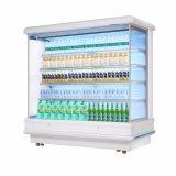 Carne e produtos lácteos Multideck Abrir Chiller com Compressor Remoto
