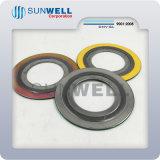 316 de flexibele Grafiet Spiraalvormige Ring van Inner&Outer van de Pakking van de Wond voor Flens