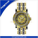 防水の人のためのステンレス鋼の水晶腕時計