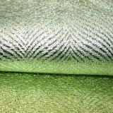 Tela de couro de carimbo malogrado gravada do falso do poliuretano para a sapata do saco