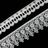 Il poliestere del merletto della guarnizione della curva del fiore, del testo fisso del merletto o il cotone può essere personalizzato