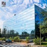 Parete divisoria di vetro blu riflettente del blocco per grafici invisibile esterno della facciata