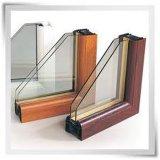 Arcos de la parte superior de vidrio aislante de doble ventana de UPVC