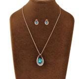 Reeks van de Juwelen van de Manier van de Halsband van de Legering van het Kristal van de saffier de Magnetische Afrikaanse