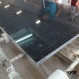 Haut de 2cm poli Grande taille de l'éclat noir dalle de pierre de quartz
