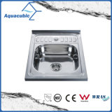 Cocina de acero inoxidable Topmount sola cubeta fregadero (AEC5054)