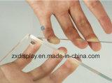 작은 독립 구조로 서있는 Polished 명확한 아크릴 자석 그림 사진 프레임