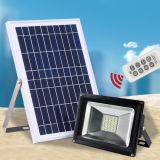 Controle remoto IP65 Lâmpada LED Holofote Solar para Home